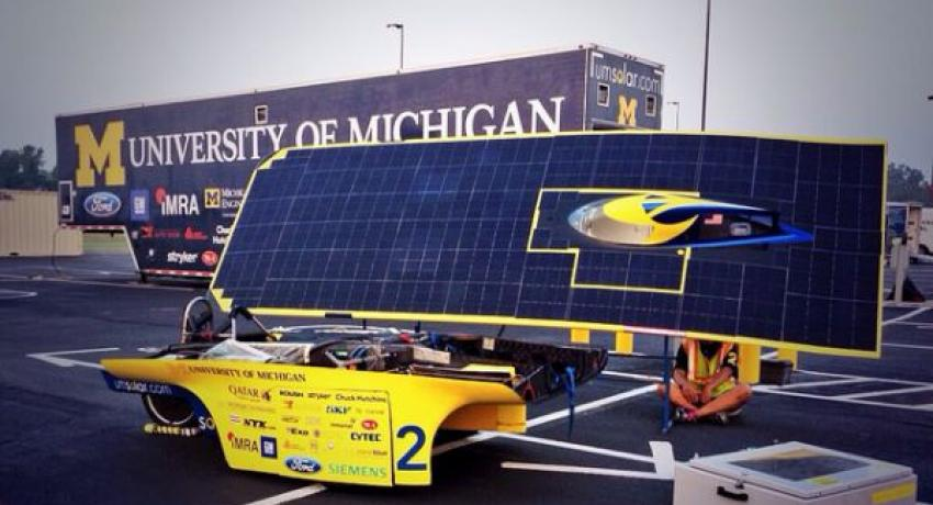Solar car race driving innovation