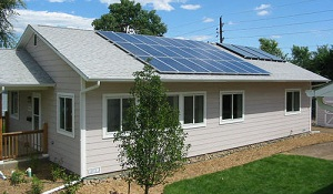 A new home with solar.