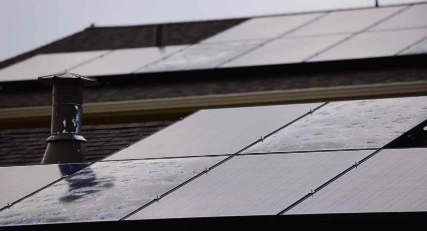 Hail damaged solar panels