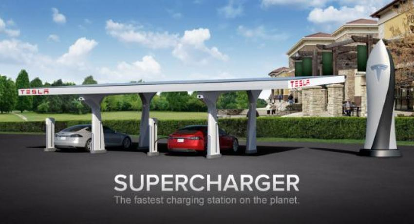 Tesla Solar Powered Super Charger
