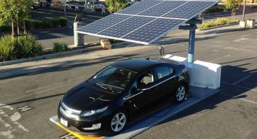 San Diego Airport trying out a portable solar EV charger