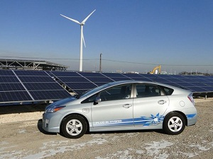 Solar, wind and EV's play nice together.