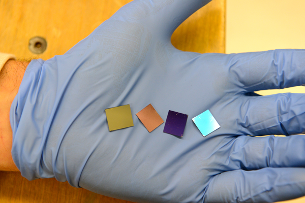 The nanodot solar devices created by Stanford. Courtesy Stanford.