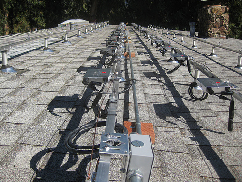 solar microinverters on rails