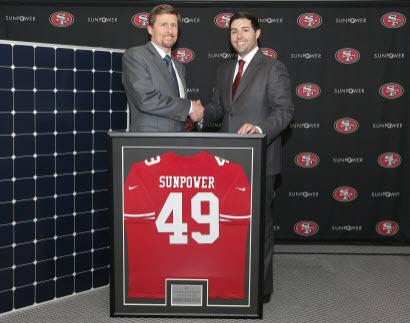 SunPower CEO Tom Werner and 49ers CEO Jed York