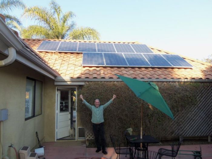 A OneRoof Energy customer and his installation