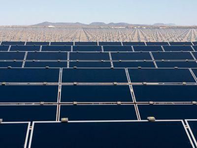 First Solar's Agua Caliente project under construction