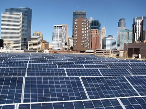 Solar on the Minneapolis Convention Center