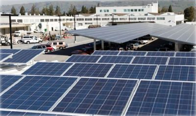 A commercial PV installation in San Jose.