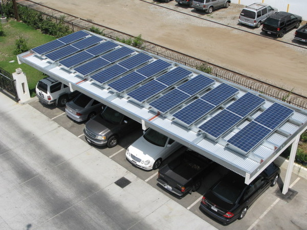 A Blue earth PV carport. Courtesy Blue Earth.