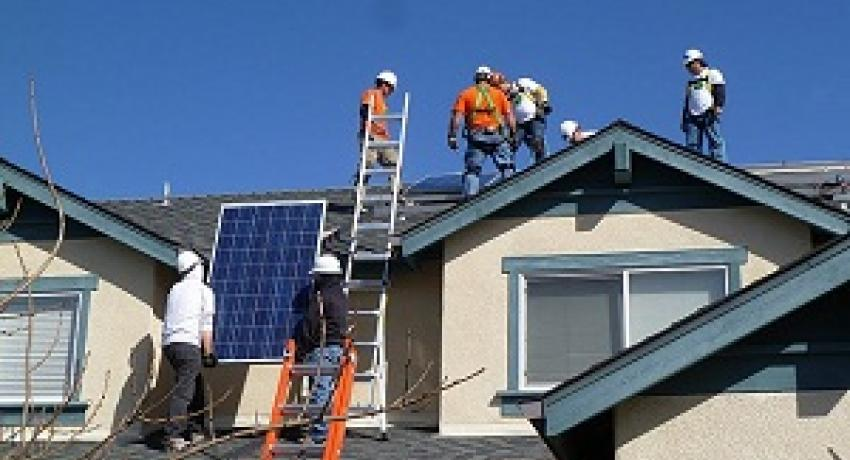Installing solar on a home