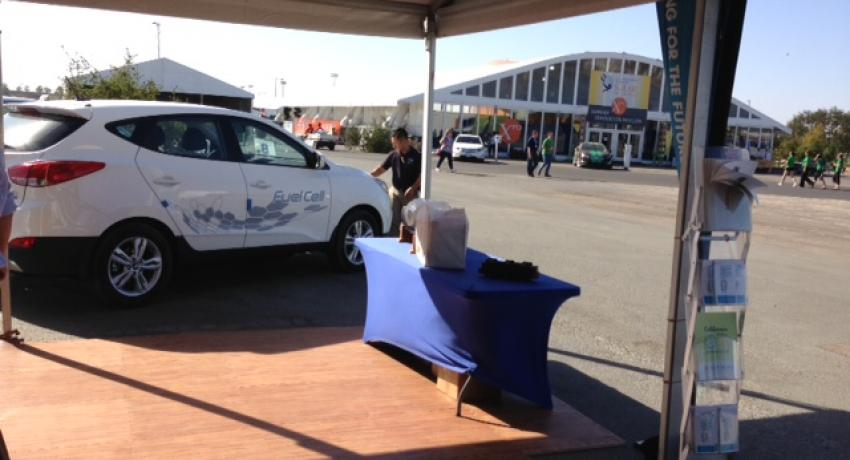 Fuel cell vehicles on display at Solar Decathlon