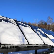 snow covered panels