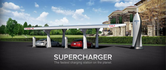 Tesla's Supercharger Pic. Courtesy Tesla